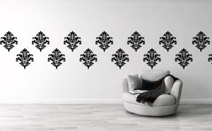 damask wall decal pattern